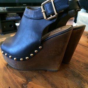 Steve Madden Shoes - Steve Madden Wooden Platform Mule Sandals